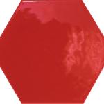 Hexatile Rojo Glossy