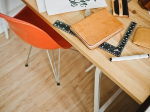 architect, desk, office